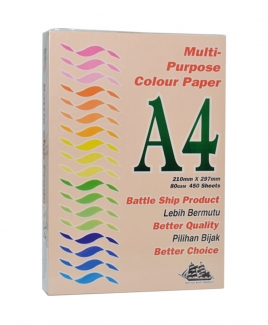 Battleship Product® A4 Colour Simili (80gsm) - Peach